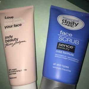 Säljer en ansiktsmask från indy beauty (Therese Lindgrens hudvårdsmärke)  Oanvänd, den är inte ens öppnad:) 50kr  Säljer även en ansiktsskrubb, också oanvänd! 20kr  Tar swish! Fraktar ej!
