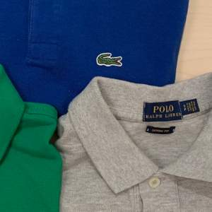 Alla i väldigt bra skick! Självklart äkta. Blå & grön är xs, classic fit (nypris 650-695/st)💙💚 Grå är S, skinny fit (nypris 995kr)🤍 En för 150kr, alla för 400kr