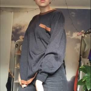 snygg mörk blå stickad tröja med bruna detaljer och ficka. En aning sticksigt material, men inte farligt. Köpt på second hand för ca 200kr, men knappt använd. Köparen står för frakt, men möts gärna upp i Hisingen/Göteborg🌺
