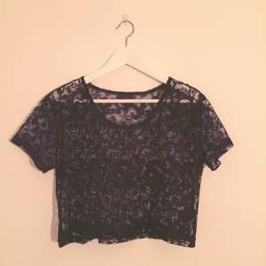 Black lace top from Monki