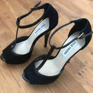 Leather high heel shoes, worn 3 times only