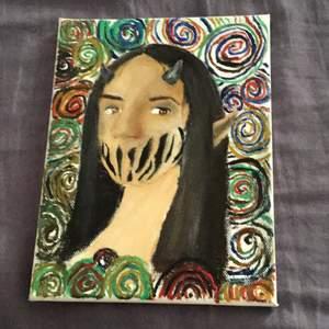 Den här målningen säljer jag för 50 kr eller det går också bra att lägga bud.