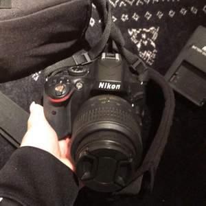 En nikon systemkamera. Till får du laddare och väska. Aldrig använd, köpt för några år sedan.