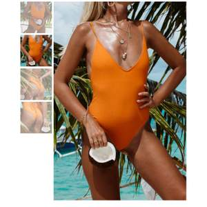 En superfin lysande orange bikini som tyvärr är för liten för mig. Är i storlek S men passar även XS. Endast provad. Nypris är 499 kr. Säljer för 240 kr+ frakt på 42 kr