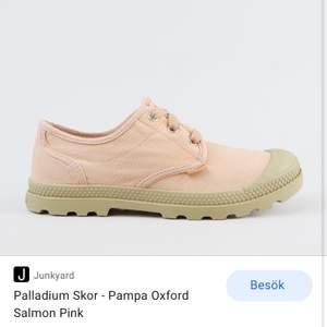 Palladium pampa Oxford Salomon pink 36.                     Använda inte alls mycket då jag växte ur dom ganska snabbt. Nypris ligger på 700
