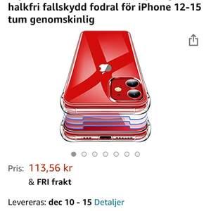 Skal för iphone 12 mini köpt på amazon. Säljes då jag beställde fel och det inte passar min telefon. Frakt tillkommer på 22kr😁