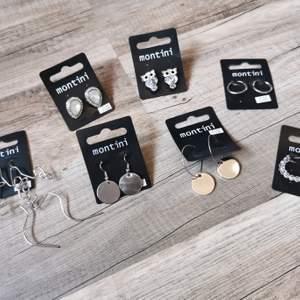 Helt nya örhängen. 15:-/st kan skickas 1-3 st örhängen på ett frimärke. Tar alltid 2 kr för emballage. Alla är Nickeltestade