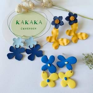 Blommor örhängen i nyskick, oanvända, S925 ❤️ 75kr/par eller 210kr för alla 🍄 Instagram: kakaka.se