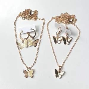 Säljer dessa två super fina guldiga smycke seten! Helt nya, alltså inte använda! Frakt tillkommer 12kr❗️ I min profil finns massor av fler set!! Passar till allt!🥰 59kr