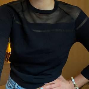Jättesnygg långärmad tröja med mesh-detaljer. Otroligt skön 🖤