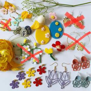 Blommor örhängen i nyskick, oanvända, prisklass 55-85kr/par, inklusive frakt 🌼🌸🌻❤️ följ min Instagram för 2kr rabatt 😉 @kakaka.se