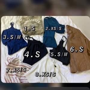 Vill förlänga klädernas livslängd. 💕 säljer blandade kläder för en billig peng plus frakt 40-60kr beronede vikt.  Djur finns i hemmet. Jag på bilden är 165cm och har storlek S-M. ❣️