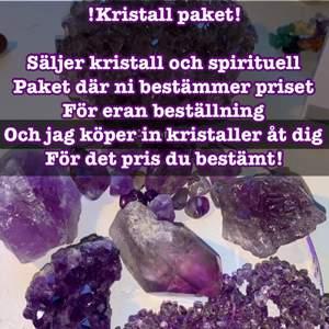 Kristall paket där du bestämmer priset! Lägsta budgeten är 20kr Max är 200kr! Mer kristaller får pengarna och skickar alltid med lite freebees och kristall konfetti!
