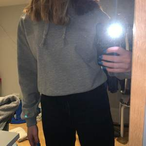 Grå hoodie från NA-KD, använd Max 3 ggr, bra skick, vikte in kanten på bilderna, kan mötas upp
