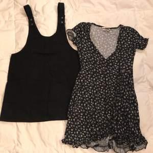 2 klänningar från Pull&Bear. Svarta i storlek M och blommiga storlek S.  70kr/styck eller båda för 100kr