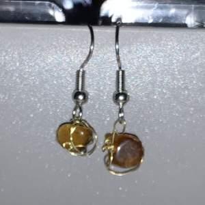 Handmade brown earrings