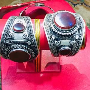 This is handmade Afghan turkman carved bracelet made adjustable