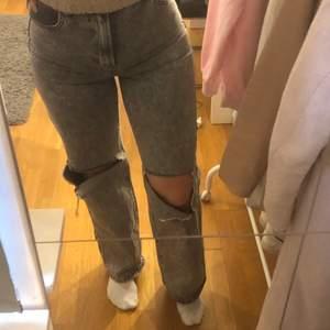 jättesnygga gråa raka jeans!! 250kr +frakt