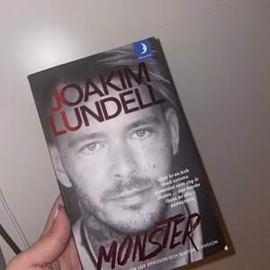 Joakim lundells bok, monster. Aldrig kommit till användning. Nytt skick.