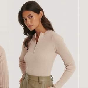 Säljer denna dröm tröja pågrund av fel storlek. Beige, med silver dragkedja. 🤍 använd en gång!