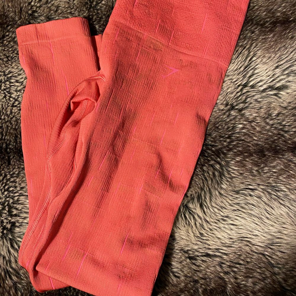 Rosa Gymshark tights, lyser i mörkret använda 1 gång pris går att diskutera . Huvtröjor & Träningströjor.