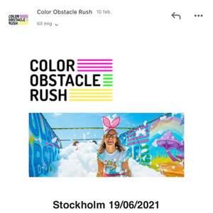 Jag har ett par biljetter till color run som jag säljer. Jag säljer då jag inte kommer vara hemma på ett år och kan där av inte medverka.  Biljetterna står uppskrivna i Stockholm 14 augusti 2021 kl 14 men kan ändras till en annan stad och tid om nån av er önskar. Detta kan göras då tiden innan har blivit flyttat från juni till augusti. Eventet kan genomföras även i Malmö, Västerås, Norrköping och Jönköping. Bara och höra av sig!