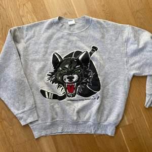 Kikar intresse på den här as coola vintage tröjan, strl L men mindrr i storlek så motsvarar snarare en m!! Bud från 200kr