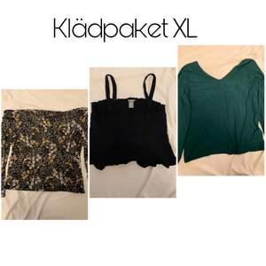 Klädpaket med toppar i Stl XL. Alla är sparsamt använda!  Endast swish🤍 Köpare står för frakt!