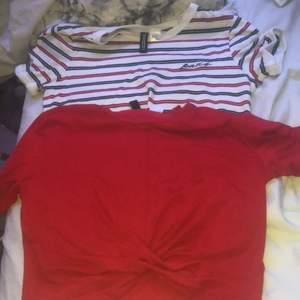 2 fina t-shirts från H&M bra skick katt fins i hemmet! Köparen står för frakt.🥰