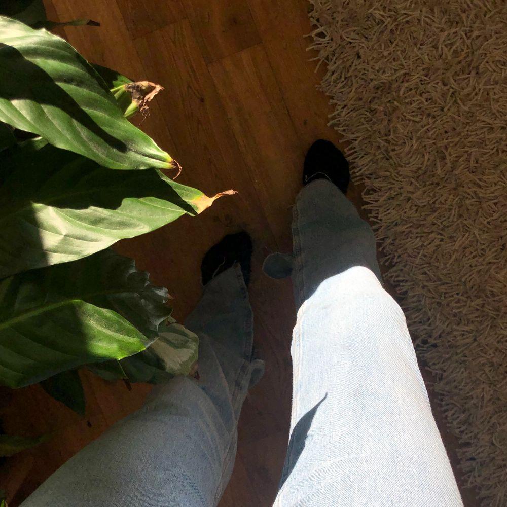 Säljer ett är helt nya jeans från zara, prislapp finns kvar. Köpta för 359kr, säljer för 300kr. Har en split vid sidan av benet. . Jeans & Byxor.