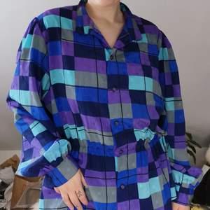 Superunik skjorta med resår i midjan 😍 Vintage från 80talet men i nyskick! GRATIS FRAKT