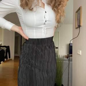 Världens finaste plisserade kjol. Så himla vacker och matchar till allt! Har slits på sidan och formar midjan väldigt fint. Från en gammal GinaTricot kollektion, storlek XS men skulle nog passa S också.