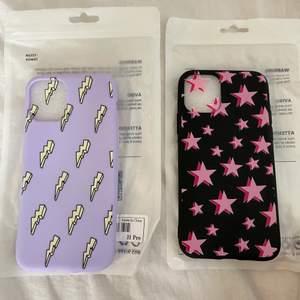 2 HELT NYA skal till mobilen. Säljer pågrund av att jag köpte dubbla. Passar till iPhone 11 PRO!  12 kr st. Eller båda för 40kr SVARTA SKALET SÅLD!!