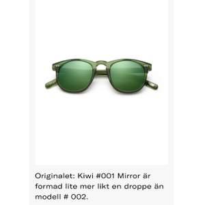 Säljer min 001 kiwi solisar, använt 1 gång. Sjukt snygga men använder aldrig solglasögon därav säljer jag dem nu!