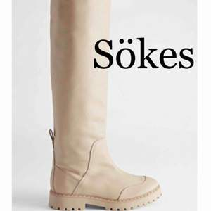 Söker dessa Topstitched Knee High Leather Boots från &otherstories i storlek 38.