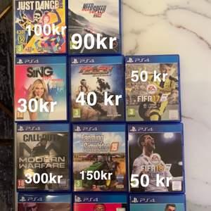 11 st ps4 spel. Köper du alla kan du få de för 990 kr.