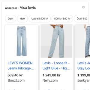 säljer massor av levis jeans i olika modeller , bra priser ! olika modeller