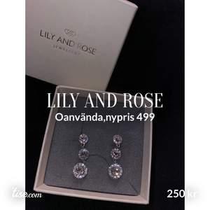 Lilly and Rose örhängen, helt nya oanvända.