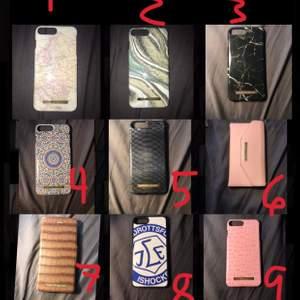 Ideal of sweden skal                                                                                1: en karta på skalet, felfritt, 100kr.                2: typ marmor, felfritt, 100kr                            3: svart marmor, felfritt, sålt.                           4: marockanskt mönster, felfritt, 100kr           5: ormskin mönster, bild 2 för se skador, 50kr  6: plånboksfodral, väl använt bild 2, 30kr.       7: plånboksfodral, helt felfritt, 100kr               8: leksand skal, felfritt, 20kr.                             9: skal med tuttar, bild 2 för skador, sålt      Köparen står för frakten!