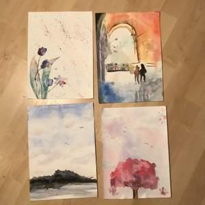 Jag tänkte sälja några av mina akvarell bilder.