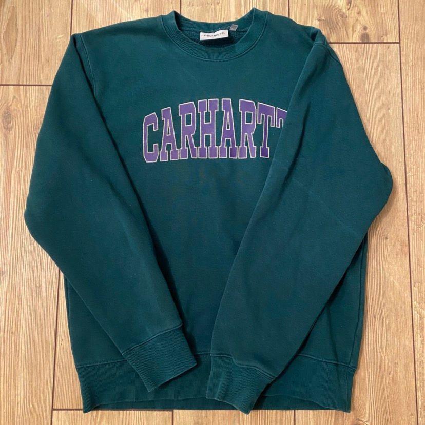 Kollar intresset på denna carhartt sweatshirt. Osäker om jag vill sälja men buda från 300 i kommentarerna vad ni hade kunnat ge💕. Huvtröjor & Träningströjor.