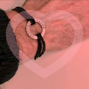 """❤️Alla hjärtans dag-armband❤️(reglerbar, """"pappa"""")14 februari är det alla hjärtans dag!😻Armbandet har garanterad hållbarhet och ska inte gå sönder⭐️ Kolla in mina andra smycken för alla hjärtans dag m.m🥰"""
