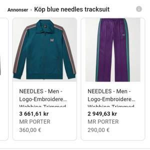 Söker alla sorters needles track suits, track pants och track jackets. Skriv om du har