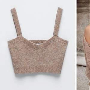 Helt oanvänd stickad tröja från Zara! Beige/brun Storlek M💘