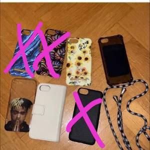 3 FÖR 2!!!     Alla mobilskal passar till iPhone 7&8, de flesta passar även till 6😆😆skalen på första bilden kostar 40kr och de på andra bilden 20kr😊 köparen står för frakt💛💛