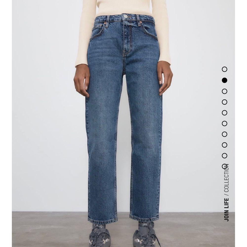 Superfina högmidjade och full lenght jeans från zara helt nya med prislapp kvar, säljs då de är ganska små på mej som vanligt vis brukar ha 40-38 i jeans!, gratis frakt och kan hämtas upp🥰. Jeans & Byxor.