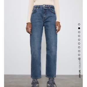 Superfina högmidjade och full lenght jeans från zara helt nya med prislapp kvar, säljs då de är ganska små på mej som vanligt vis brukar ha 40-38 i jeans!, gratis frakt och kan hämtas upp🥰