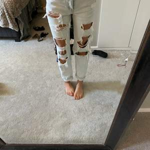 Supercoola håliga jeans, ljusblåa
