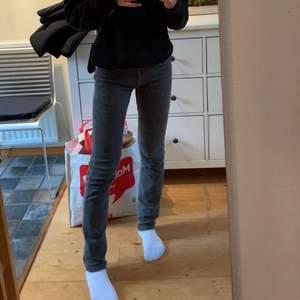 Skit snygga grå lågmidjade A.P.C  jeans. Säljer då jag behöver pengarna. Köpta begagnande. Skadan på byxan går antagligen att fixa har bara inte försökt💕