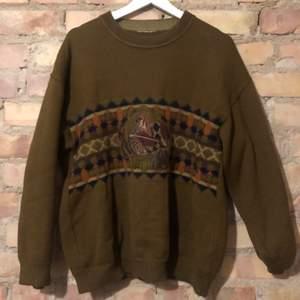 Vintage stickad tröja L